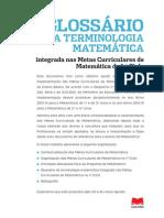 Glossario Da Terminologia Matematica