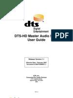 DTS HD Master Audio Suitev11 User Guide