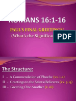 Apostle Paul's final greetings