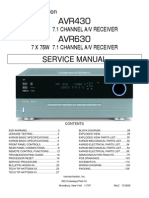 Service Manual Hrman Kardon  AVR 430, AVR 630