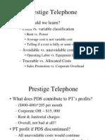 Prestige telephone ppt