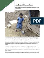México social_Malnutrición en el país