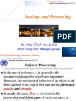 Polymer rheology and processing