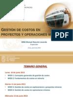 Curso Gestión de  Costos Junio 2013