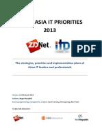 ZDNet IT Priorities 2013 Asia