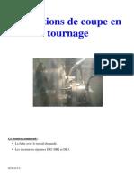 Exercice Conditions de Coupe en Tournage Prof