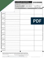 Formulario recolecciòn de firmas para consulta popular Yasunì ITT