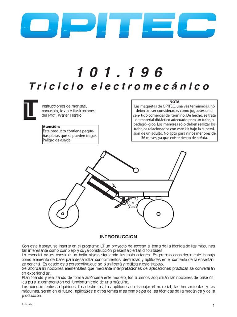 Para Instrucciones Construir Triciclo Un Electromecánico QChrdtxsB