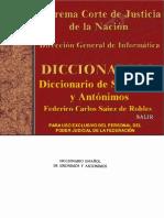 Diccionario de Sinonimos