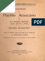 Comentarios Del Pueblo Araucano II. La Jimnasia Araucana. Manuel Manquilef
