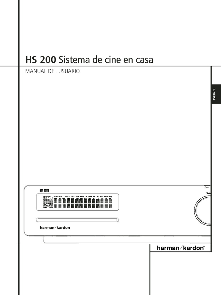 HarmankardonHS200Manual(Spanish).