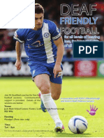 Deaf Friendly Football with The Posh