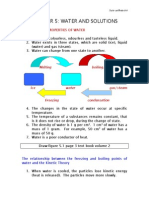 Chapter 5 Water and Solutions Doc