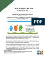 Boletín 060_ 15 Octubre_ Día del lavado de manos