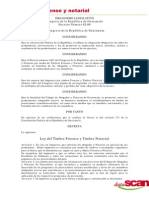 Ley de Timbres Forense y Notarial