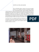 Centro Cultural Mexiquense Reporte