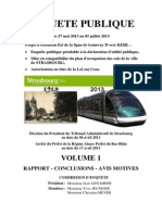 Rapport commission d'enquête extension tramway vers Kehl