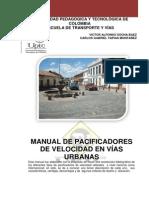 MANUAL DE PACIFICADORES DE VELOCIDAD EN VÍAS URBANAS
