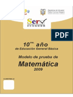 Prueba Modelo Matematica 10