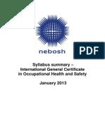 IGC Syllabus Summary v1 Jan 13 Spec249201314119