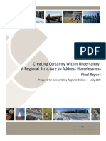 A Regional Structure to Addressing Homelessness - Final Report