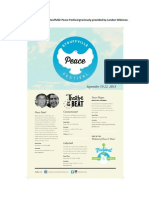 Graphic Design for Stouffville Peace Festival - Landon Wideman