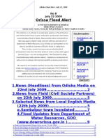 Orissa Flood  News Alert Jul 22 09