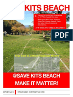 Save Kits Beach Poster