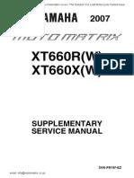 XT660X R2007 Suppl Manual