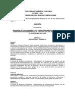2da Propuesta de Ordenanza Cuerpo de Bomberos del Municipio Simón Planas Octubre 2012
