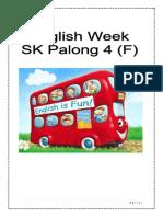 English Week Paperwork