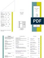 the coffee shop trifold