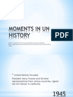 moments in un history