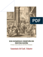 XXI DOMINGO DESPUÉS DE PENTECOSTÉS. card. schuster