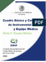 Cuadro Basico Equipo Medico