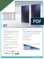 Data Sheet ET Solar 295W