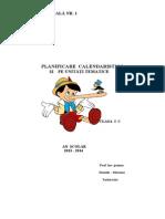 Planificare Clasa 1