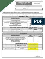 AC Switchboard Checksheet