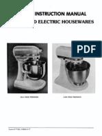 kitchen aid k45 service manual for hobart made vintage mixers rh scribd com Hobart A200 Mixer Manual Hobart Dish Machine Manuals