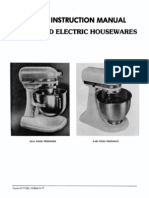 Kitchen Aid K45 Service Manual (For Hobart Made Vintage Mixers)