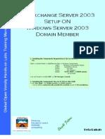 MS Exchange Server 2003 Setup on Windows 2003 Member Server v1.2