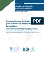 Buenas prácticas de la OMS para laboratorios de MB farmacéutica