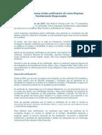 Gas Natural Fenosa recibe certificación efr como Empresa Familiarmente Responsable