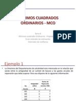 Semana 08 - Mínimos Cuadrados Ordinarios (MCO) - Se