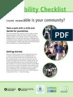walkability checklist