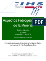 """Folleto 3ª Edición Curso """"Aspectos hidrogeológicos de la minería"""""""