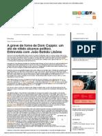 A greve de fome de Dom Cappio_ um ato de nítido alcance político