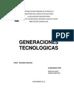 Caracteristicas de Las Generaciones de Las Computadoras