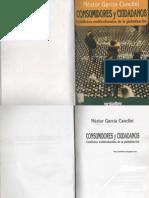 Nestor Garcia Canclini - Consumidores y Ciudadanos