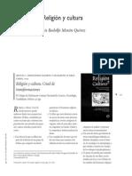 Religión y Cultura Rodolfo Morán